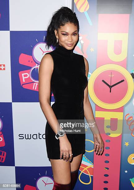 Chanel Iman attends the Swatch A Night Of POP Store Opening at Swatch Store Times Square on May 3 2016 in New York City