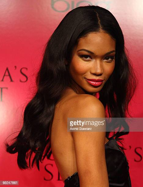 Chanel Iman attends the Victoria's Secret fashion show after party at M2 Ultra Lounge on November 19 2009 in New York City