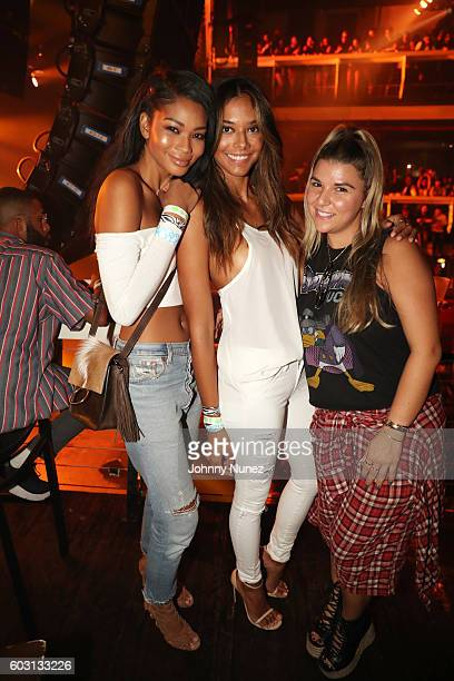 Chanel Iman Heidy De la Rosa and Alicia Sereno attend Terminal 5 on September 11 2016 in New York City