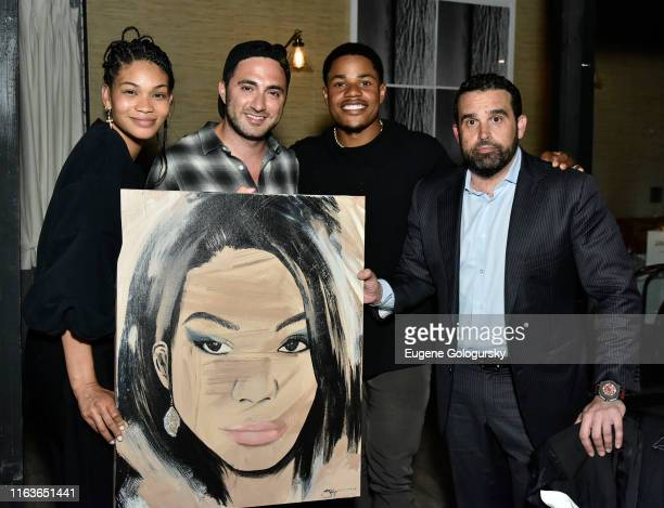 Chanel Iman Jojo Anavim Sterling Shepard and Seth Semilof attend the Haute Living And Louis XIII Celebrate Sterling Shepard at Brooklyn Chop House on...