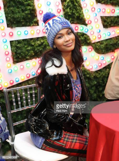 Chanel Iman kicks off winter with New Era and Macy's at Macy's Herald Square on December 12 2017 in New York City