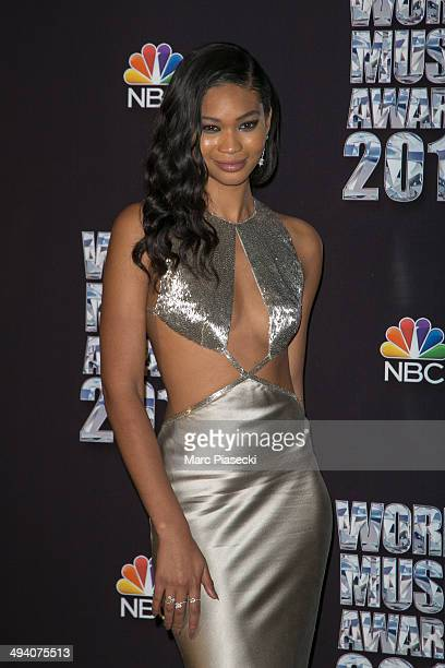 Chanel Iman poses in the Press Room during the Sporting MonteCarlo on May 27 2014 in MonteCarlo Monaco