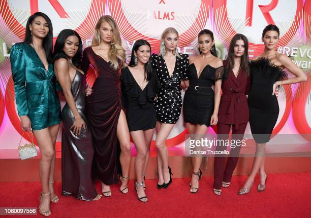 Chanel Iman, Teyana Taylor, Romee Strijd, Raissa Gerona, Elsa Hosk, Shay Mitchell, Emily Ratajkowski and Kendall Jenner attend REVOLVE Presents: The...