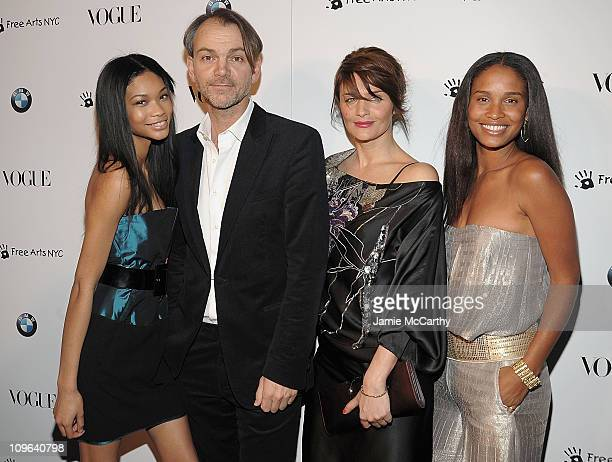 Chanel ImanAdrian Van HooydonkBMW design chiefHelena Christensen and Joy Bryant attends the All New 2009 BMW 7 Series celebration by Vogue and BMW at...