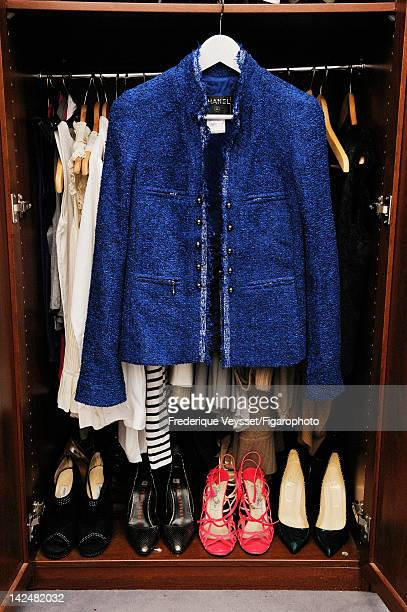 Chanel jacket from AnneSophie Berbille's wardrobe is photographed for Madame Figaro on January 30 2012 in Paris France PUBLISHED IMAGE Figaro ID...