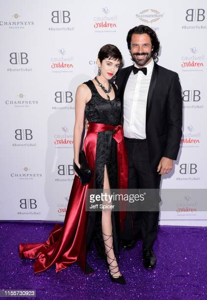 Chanel Joan Elkayam and Christian Vit attend the Caudwell Children Butterfly Ball 2019 at The Grosvenor House Hotel on June 13 2019 in London England