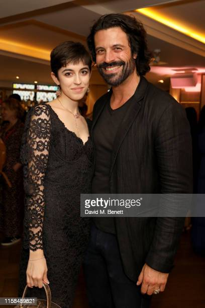 Chanel Joan Elkayam and Christian Vit attend the UK launch of The Female Social Network at The Ivy on June 26 2019 in London England Photo by David M...