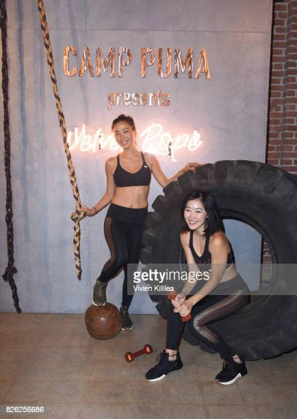 Chanel Li and Ruby Park attend PUMA Hosts CAMP PUMA To Launch Their Newest Women's Collection Velvet Rope at Goya Studios on August 3 2017 in Los...