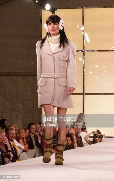 Chanel Model during Chanel Fall/Winter 2001 Ready to Wear Collection Fashion Show at Villa Maria in Water Mill New York United States