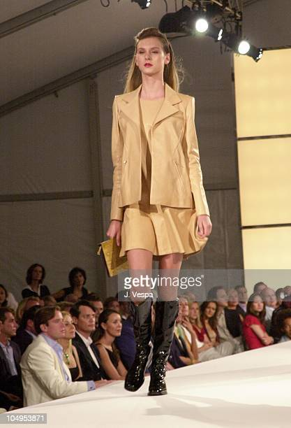 Chanel Model during Chanel Fall/Winter 2001 Ready to Wear Collection Fashion Show at Villa Maria in Water Mill, New York, United States.