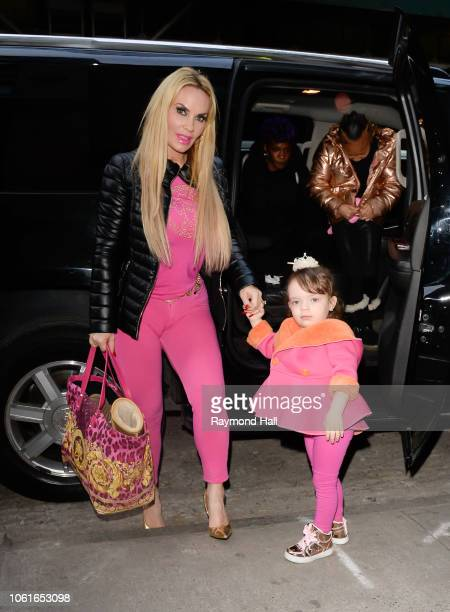 Chanel Nicole Marrow and Nicole 'Coco' Austin is seen in midtown on November 14 2018 in New York City