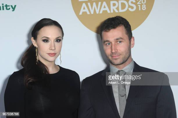 Chanel Preston and James Dean arrive for the 2018 XBIZ Awards held at JW Marriot at LA Live on January 18 2018 in Los Angeles California