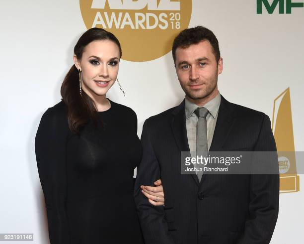 Chanel Preston and James Deen attend the 2018 XBIZ Awards on January 18 2018 in Los Angeles California