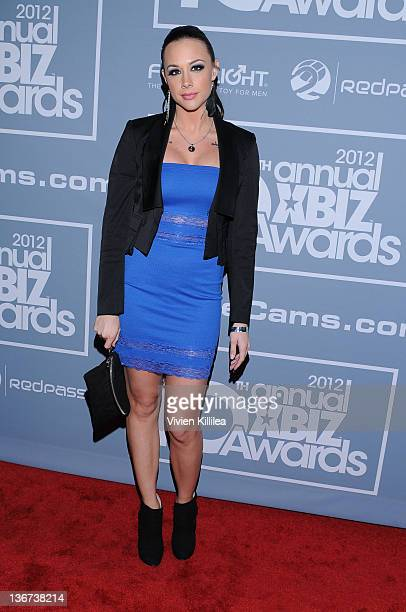 Chanel Preston attends the 10th Annual XBIZ Awards at The Barker Hanger on January 10 2012 in Santa Monica California