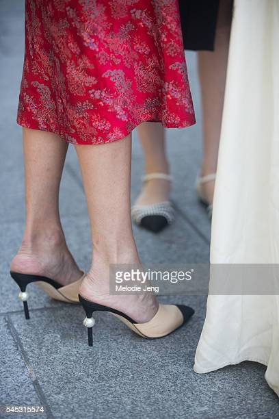 Chanel shoes after the Viktor Rolf show at La Gat lyrique on July 6 2016 in Paris France