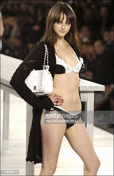 Chanel spring-summer 2004 ready-to-wear collection in Paris, France on October 10, 2003.