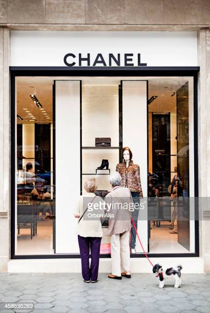 chanel store - chanel jacket stock pictures, royalty-free photos & images