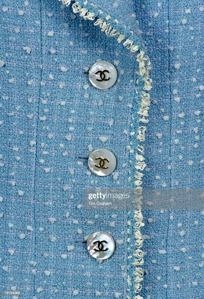 Chanel suit with logo buttons worn by Princess Diana on a dr : News Photo