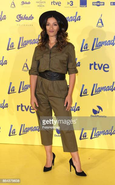 Chanel Terrero attends the 'La Llamada' premiere yellow carpet at the Capitol cinema on September 26, 2017 in Madrid, Spain.