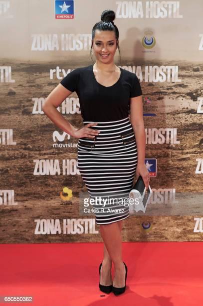 Chanel Terrero attends 'Zona Hostil' premiere at the Kinepolis cinema on March 9, 2017 in Madrid, Spain.