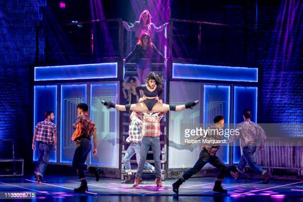 Chanel Terrero on stage during a press presentation for 'Flashdance. El Musical' at the Teatre Tivoli on March 01, 2019 in Barcelona, Spain.