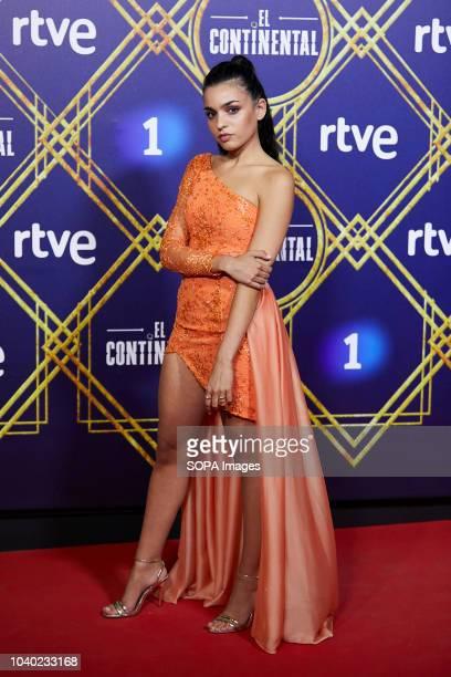 Chanel Terrero seen posing for the camera at Callao City Lights cinema during 'El Continental' premiere.