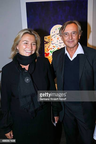 CEO Chanel Valerie Duport and Pierre Passebon attend the 'Paintings Poems from Tahar Ben Jelloun Furniture Scriptures from CSaccomanno ODayot' Press...