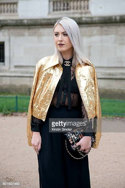 Chanel Visual Merchandiser Stephanie Allaire wears all Chanel on day 8 during Paris Fashion Week Spring/Summer 2016/17 on October 6 2015 in Paris...