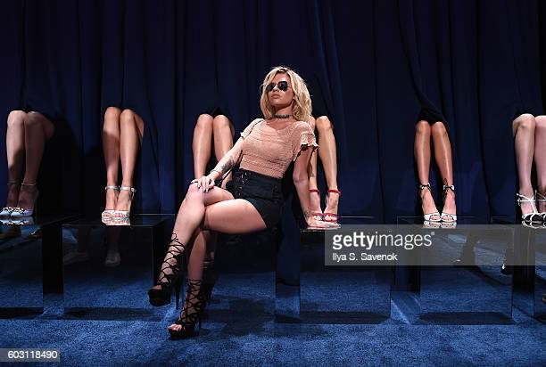 Chanel West Coast poses at the Chloe Gosselin Presentation during MADE Fashion Week September 2016 at Milk Studios on September 11 2016 in New York...