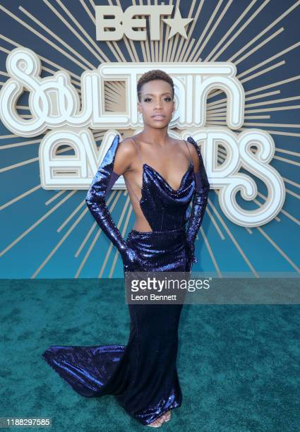 Chanelle Graham attends the 2019 Soul Train Awards presented by BET at the Orleans Arena on November 17 2019 in Las Vegas Nevada