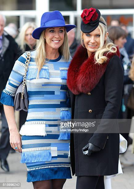 Chanelle McCoy and Carla Germaine attend day 2 Ladies Day of the Cheltenham Festival on March 16 2016 in Cheltenham England
