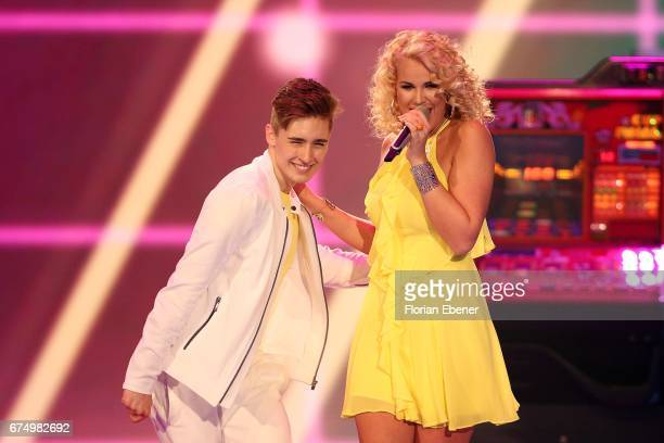 Chanelle Wyrsch during the fourth event show and semi finals of the tv competition 'Deutschland sucht den Superstar' at Coloneum on April 29 2017 in...