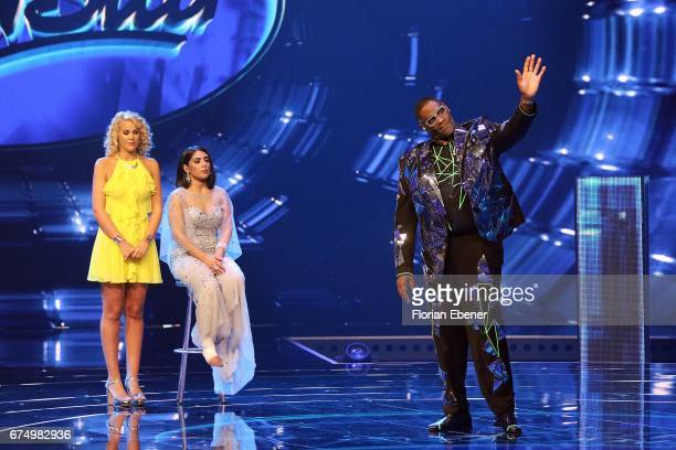 Chanelle Wyrsch Duygu Goenel and Alphonso Williams during the fourth event show and semi finals of the tv competition 'Deutschland sucht den...