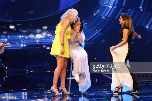 Chanelle Wyrsch Duygu Goenel and Maria Voskania during the fourth event show and semi finals of the tv competition 'Deutschland sucht den Superstar'...