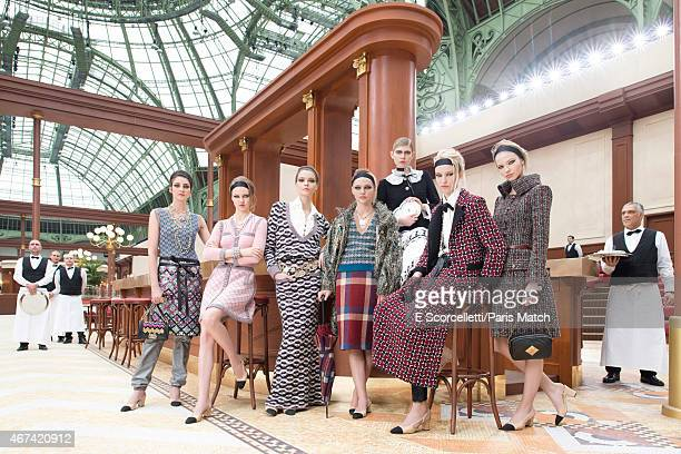 Chanel's readytowear autumn/winter 2015 collection goes on the catwalk at the Grand Palais on March 10 2015