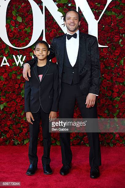 Chaney Glover and Savion Glover attend the 70th Annual Tony Awards at The Beacon Theatre on June 12 2016 in New York City