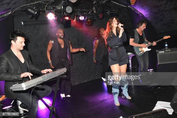 Chanez and her band perform during 'Attachiante' Chanez Concert and Birtday Party at Sentier des Halles Club on May 2 2017 in Paris France