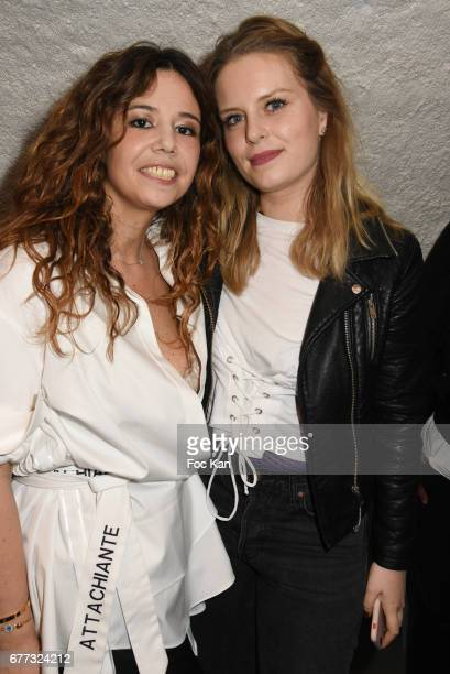 Chanez and Melanie Autin attend 'Attachiante' Chanez Concert and Birthday Party at Sentier des Halles Club on May 2 2017 in Paris France