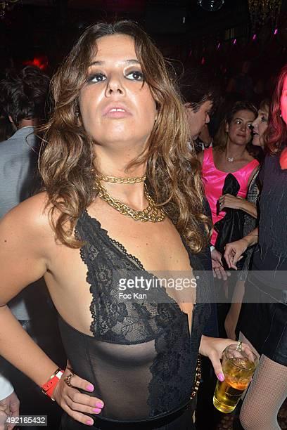 Chanez attends 'Le Caca's Club La Nuit des Cougars et Des Vieux Beaux' Party at the Raspoutine Club on October 9 2015 in Paris FranceÊ