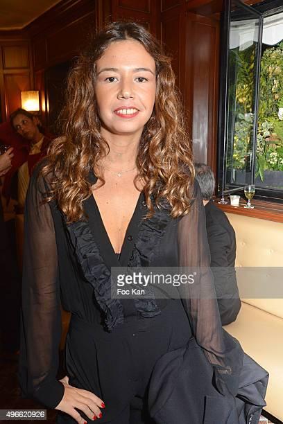 Chanez attends the Prix De Flore 2015 Literary Prize Winner Announcement at Cafe de Flore on November 10 2015 in Paris France