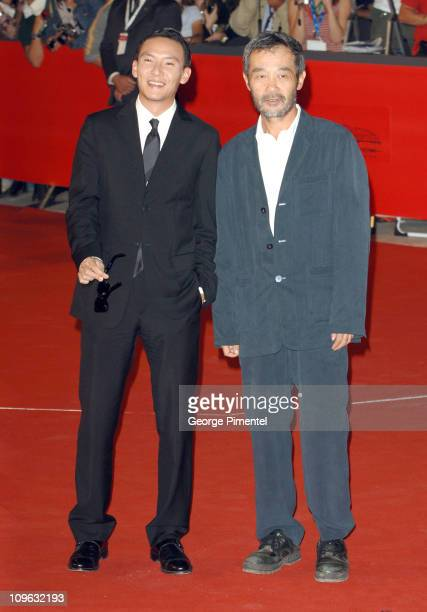 Chang Chen and Zhuangzhuang Tian during 1st Annual Rome Film Festival 'The Go Master' Premiere at Auditorium Parco della Musica in Rome Italy