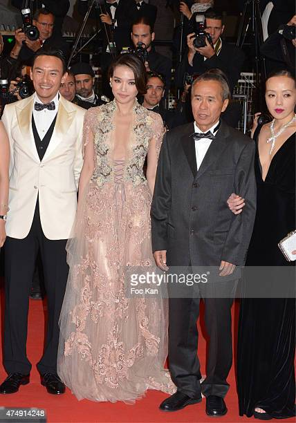 Chang Chen Shu Qi Hou Hsiao Hsien attend the Premiere of 'Nie Yinniang' during the 68th annual Cannes Film Festival on May 21 2015 in Cannes France