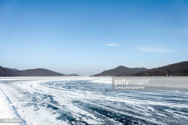 changchun snow ice road, china - extreme terrain stock pictures, royalty-free photos & images