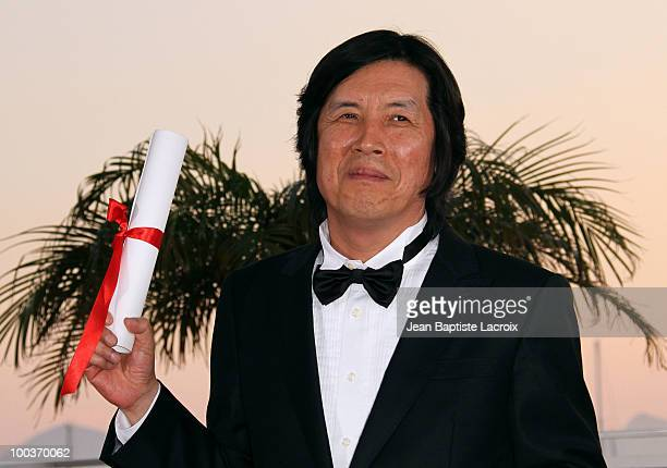 Changdong Lee attends the Palme d'Or Award Ceremony Photo Call held at the Palais des Festivals during the 63rd Annual International Cannes Film...