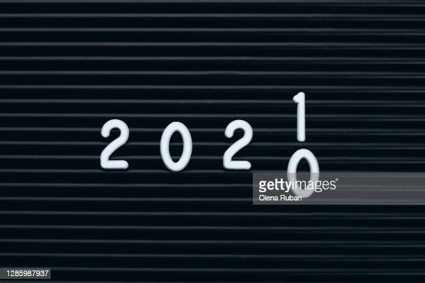 change happy new year 2020-2021 - numbers - happy new month stock pictures, royalty-free photos & images