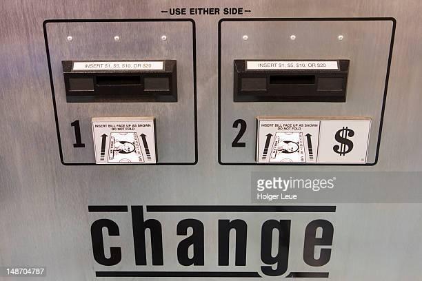 Change Machine at Surf City Suds Laundromat.