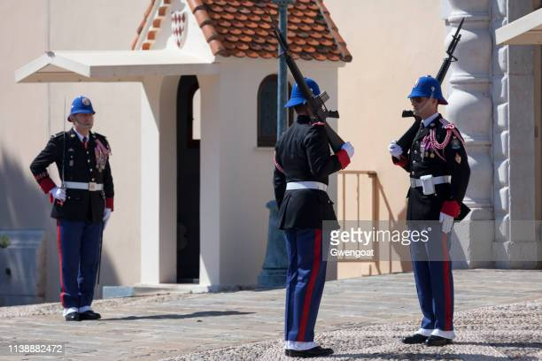 Change of guard at the Prince's Palace of Monaco