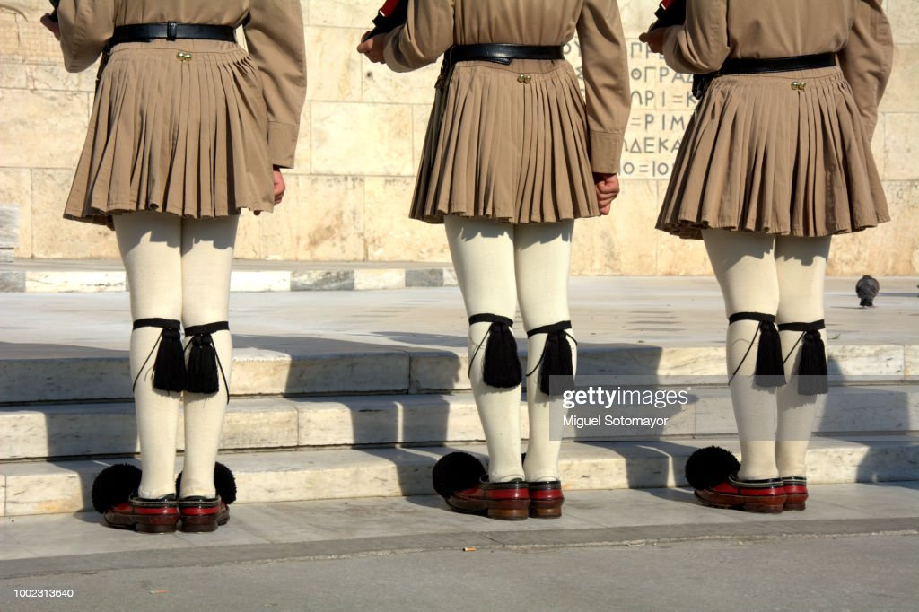Change of the guard in Athens : ストックフォト