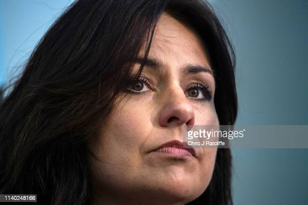 Change UK MP Heidi Allen during a People's Vote Remain rally for the European elections by newly formed political party Change UK in London on April...