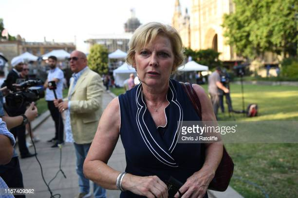 Change UK politician Anna Soubry walks across College Green on July 23 2019 in London England After a month of hustings campaigning and televised...
